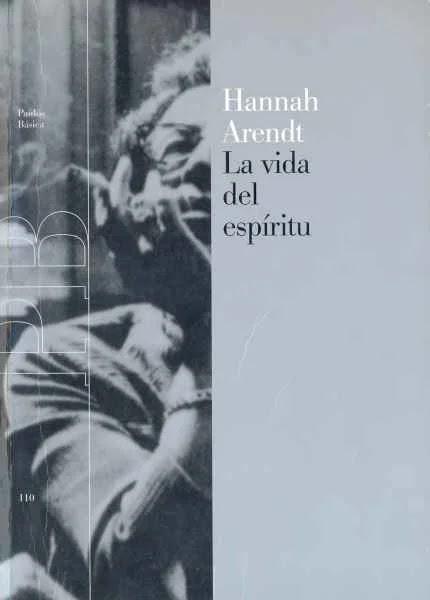 la vida del espiritu hannah arendt pdf