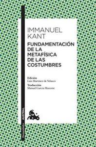 Fundamentacion metafisica costumbres Kant pdf
